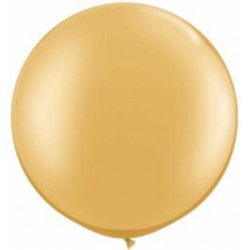 Ballon latex 30'' Or / sac de 2
