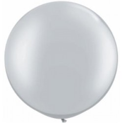 Ballon Latex 30 po Argent  / sac de 2