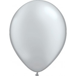 Ballon latex 5 po Argent / sac de 100